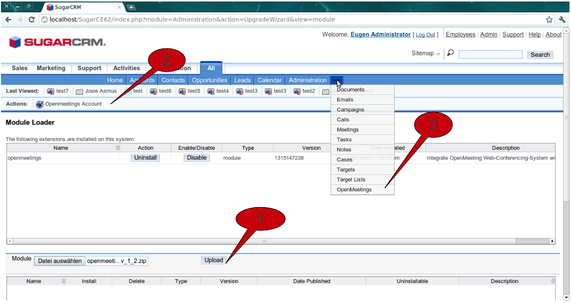 Apache OpenMeetings Project – SugarCRM Plugin