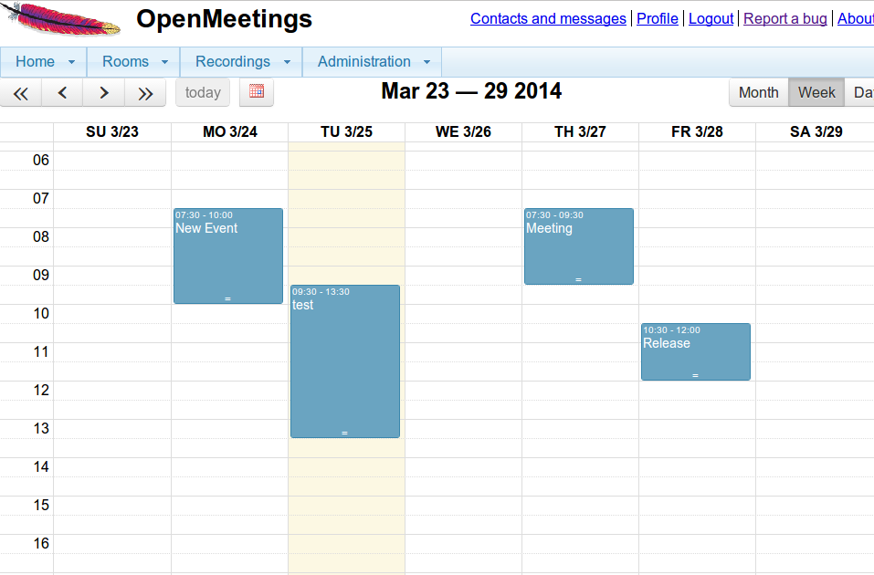 Plan meetings with integrated calendar