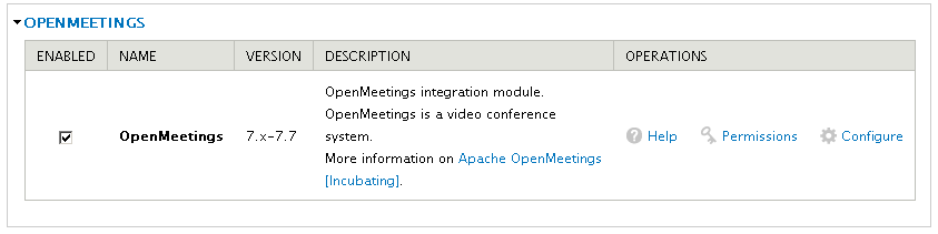 Apache OpenMeetings Project – Drupal Plugin