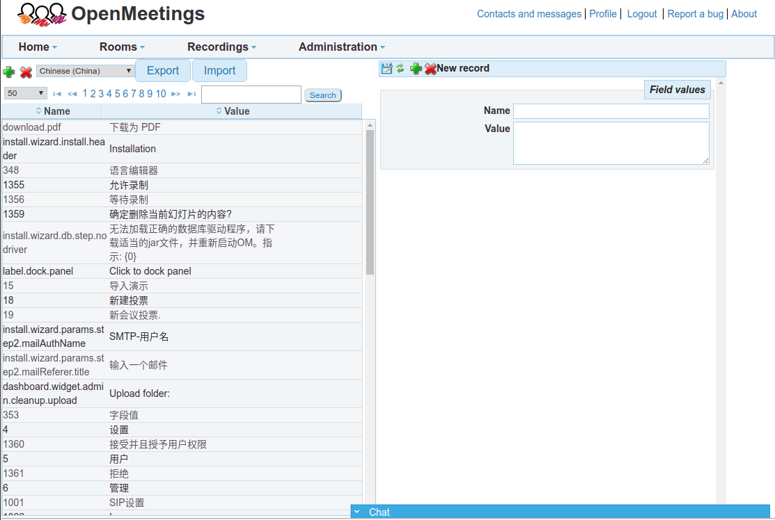 Apache OpenMeetings Project – Language Editor