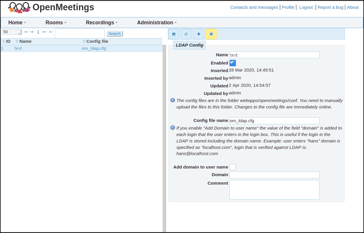 Apache OpenMeetings Project – LDAP/ADS configuration